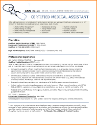 Samples Of Medical Assistant Resume by 6 Medical Assistant Resume Template Ats Resuming Templates Word