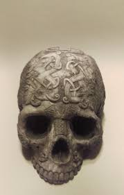 Celtic Skull - celtic knot skull sized in parisian finish
