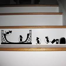 Wall Decals For Living Room 3d Funny Painting Mouse Mouse Hole Wall Stickers Decals Living