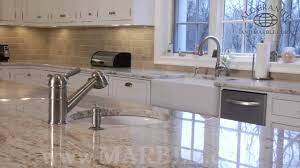 interior counter top kitchen with colonial white granite and