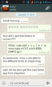 cool fonts for whatsapp u0026 sms android apps on google play