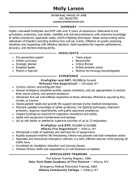 one resume exles best firefighter resume exle livecareer