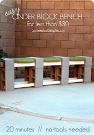 How To Build A Simple Bench How To Make A Cinder Block Bench Somewhat Simple