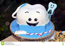 first tooth cake stock photo image 74052334