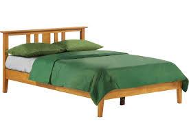 Oak Platform Bed Thyme Platform Bed Frame Oak The Futon Shop