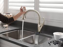 Touch Kitchen Faucet Appealing Delta No Touch Kitchen Faucet Faucets Kitchen No Touch