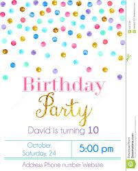 Party Invitation Card Confetti Party Invitation Card Stock Vector Image 54573766