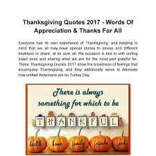 thanksgiving quotes 2017 words of appreciation thanks for all