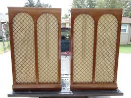 vintage bozak b4000 symphony stereo speakers in the moorish design