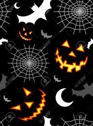 halloween creepy background halloween horror symbols seamless pattern background vector