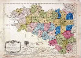Map Of Brittany France by