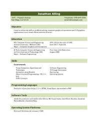Sample Resume For Computer Science Student by Sample Resume For Fresh Graduate Jennywashere Com