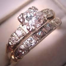 vintage wedding ring sets antique diamond wedding ring set vintage deco white gold