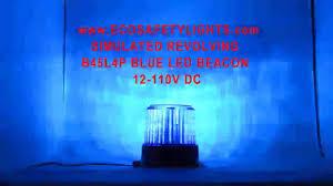 blue warning lights on forklifts b45l4p blue led medium beacon emergency warning light forklift 12