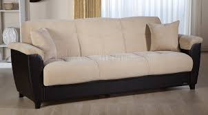 Microfiber Leather Sofa Microfiber Bonded Leather Base Sofa Bed W Storage