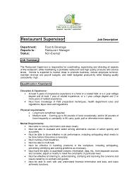 Best Resume Samples Restaurant Manager Duties For Resume U2013 Best Resume Sample Inside