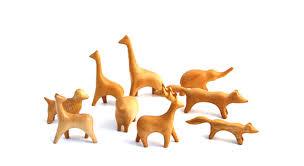 sculpted wood animals pradt