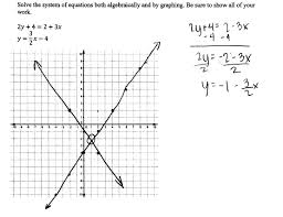 solving a system of equations 1 students are asked to solve a
