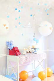 baby shower wall decorations baby shower themes made better with balloon decoration byers