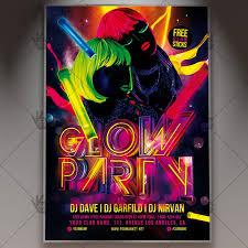 glow party glow party premium flyer psd template psdmarket