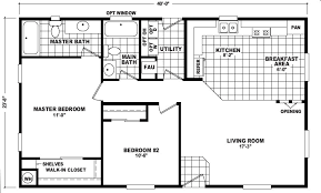 Square Floor Plans For Homes Move In Ready Home 16x44 Cavco