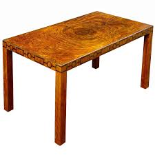 very fine swedish modern classicism coffee table with burl top and