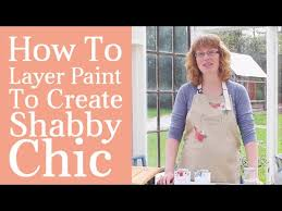 how to layer paint to create shabby chic furniture diy tutorial