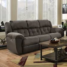 Chenille Reclining Sofa by Red Barrel Studio Simmons George Double Motion Reclining Sofa