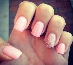 cool pink glitter nail design ideas