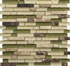 Sample Rustic Copper Linear Natural by Green Glass Mosaic Tiles Kitchen Backsplash Want Tile Like This