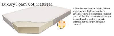 cot mattresses 117 x 54 cot mattress foam interior 7 cm