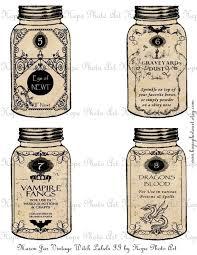 printable halloween specimen jar labels halloween mason jar witch potion labels ii digital collage sheet eye