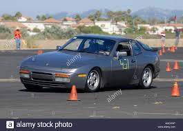 porsche 944 blue porsche 944 competing in pcasb autocross race at oxnard california