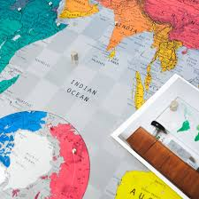 Future Map Of The World by World Map Wall Print By The Future Mapping Company
