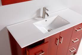 Contemporary Bathroom Sinks Legion 48 Inch Contemporary Bathroom Vanity Solid Oak Wood