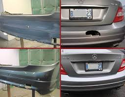 mercedes paint repair bumper repair