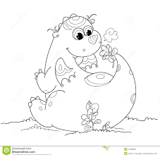 cute coloring baby dragon stock images image 13389384