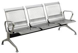stainless steel waiting area visitor chair at rs 3200 pair