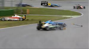 formula 4 crash adac formula 4 championship 2016 race 2 hockenheimring a estner