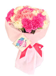 carnation bouquet 30 white pink carnations flower delivery philippines
