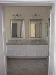 single bathroom vanity mirror set in iron wood finish bathroom
