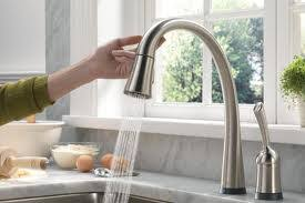 choose the best touchless kitchen kitchen astounding touch kitchen faucet reviews delta touchless