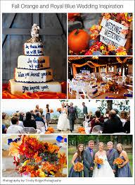 love fall autumn wedding color scheme royal blue
