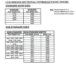 Overhead Door Sizes Fabulous Standard Garage Door Sizes Of Dimensions Home