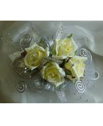 corsage flowers white corsage for prom with silver trim pasadena tx