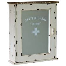 mirrored wall hanging bathroom cabinet shabby chic vintage style