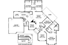 Floor Plans For One Story Homes Clever 4 One Story Ranch House Plans Double Mastersuite Plan