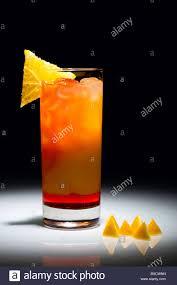 campari orange campari orange cocktail with slice of orange isolated on the black