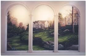 murals custom hand painted wall murals by art effects murals with arches