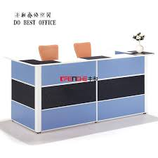 Spa Reception Desk Office Counter Design Furniture High End Melamine Reception Table